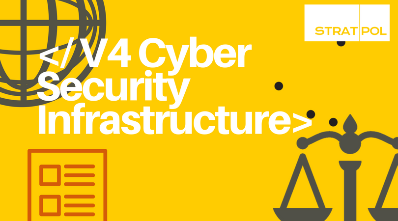 V4 Cyber Security Infrastructure Infographic
